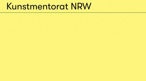 Kunstmentorat NRW